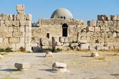 Umayyad Palace at the roman citadel hill in Amman, Jordan. Stock Photos