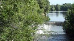Small suburban dam - stock footage