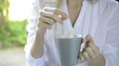 Breakfast tea time Stock Footage