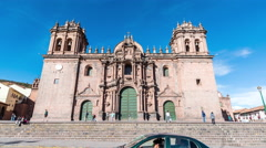 Cuzco Cathedral Time Lapse - stock footage