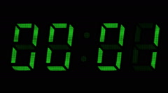 One minute digital counter Stock Footage