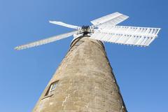 Heritage flour windmill at Oatlands, Tasmania - stock photo