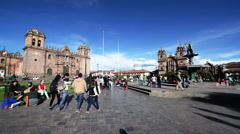 Cuzco Plaza View Stock Footage