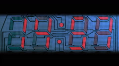 Countdown clock red led - stock footage