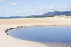 Chain of Lagoons Tasmania east coast Stock Photos