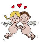 Angels are in love Stock Illustration
