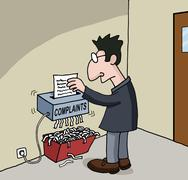 Cartoon about male office worker Stock Illustration