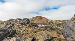 Brennisteinsalda volcano, Landmannalaugar  Iceland, colorful volcanic lava 4k Stock Footage
