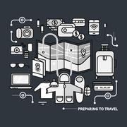 Stock Illustration of Preparing Travel Necessary What to Pack