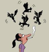 Smoking will kill you - stock illustration