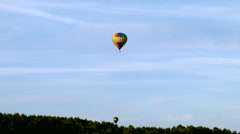Stock Video Footage of Air balloon fly out from aerodrome