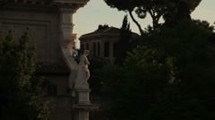 The Forum Romanum seen from afar. Stock Footage