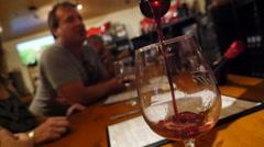 Wine tasting pour Temecula Stock Footage