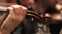 Violins in a symphonic orchestra - stock footage