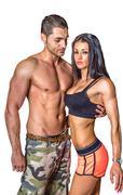 Athletic couple - stock photo