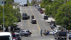 San Diego Police swat team at a scene 2 Stock Footage