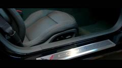 Gliding shot of Corvette interior, Corvette Interior 5 - stock footage