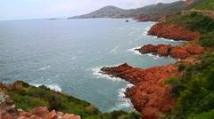 French Mediterranean coast Stock Footage