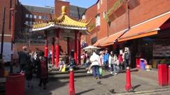 Pagoda in Chinatown, London, United Kingdom Stock Footage