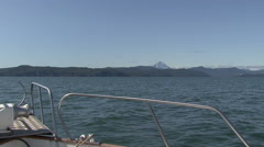 Boat trip. Avacha Bay. Stock Footage