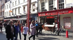 Chinatown in London, United Kingdom Stock Footage