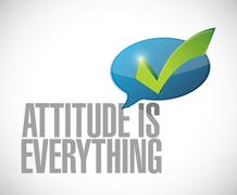 Attitude is everything approval message sign Stock Illustration