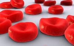 Conceptual image of red blood cells. - stock illustration