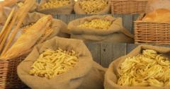 Pasta bread Stock Footage