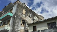 Poor houses in Havana, Cuba Stock Footage