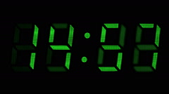 Countdown clock green led - stock footage