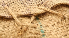 Rice bag cloth Texture Stock Footage