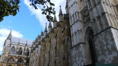 Westminster Abbey, London, UK Stock Footage