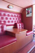 PERM, RUSSIA - JUN 11, 2013: Interior of bus cafe Kentucky Fried Chicken. Fir - stock photo