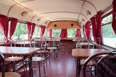 Stock Photo of PERM, RUSSIA - JUN 11, 2013: Interior of double-decker bus cafe Kentucky Frie