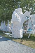 PERM, RUSSIA - JUN 11, 2013: Exhibition fictional creatures of foam plastic i - stock photo