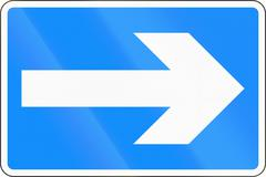 One-Way To The Right in Bangladesh Stock Illustration