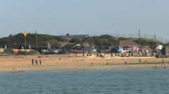 View of Hayling Island across Langstone Harbour entrance in Hampshi Stock Footage