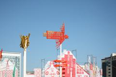 PERM - JUNE 7: Flying man at festival White Nights, on June 7, 2012 in Perm,  Stock Photos