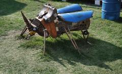 PERM - JUNE 7: Metal sculpture Beetle at festival White Nights, on June 7, 20 - stock photo