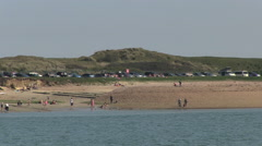 Car Park by Hayling Island Beach by Langstone Harbour in Hampshir Stock Footage