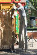 PERM, RUSSIA - JUN, 23, 2014: Puppet shows in Gorky Park - stock photo