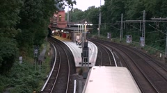 S-Bahn train at Berlin Stock Footage