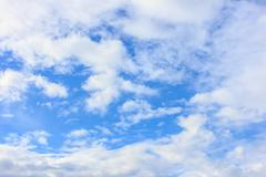 Stock Photo of blue sky clouds