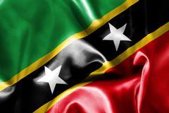 Saint Kitts and Nevis Flag Stock Illustration