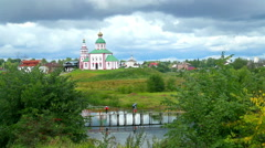 Golden Ring of Russia Orthodox Church Stock Footage