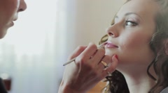 Makeup For The Bride. Preparations for the wedding . Stock Footage