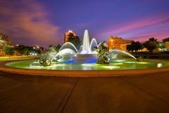 Kansas City Fountains Stock Photos