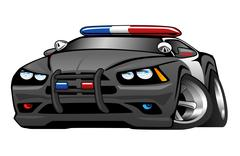 Police Muscle Car Cartoon Illustration Stock Illustration