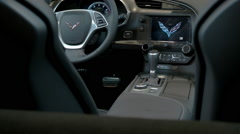 Stock Video Footage of Gliding shot of Corvette interior, Corvette Interior 8