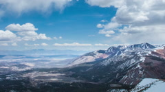 Time Lapse - Cloudscape Moving Over Snowy Mountains - stock footage